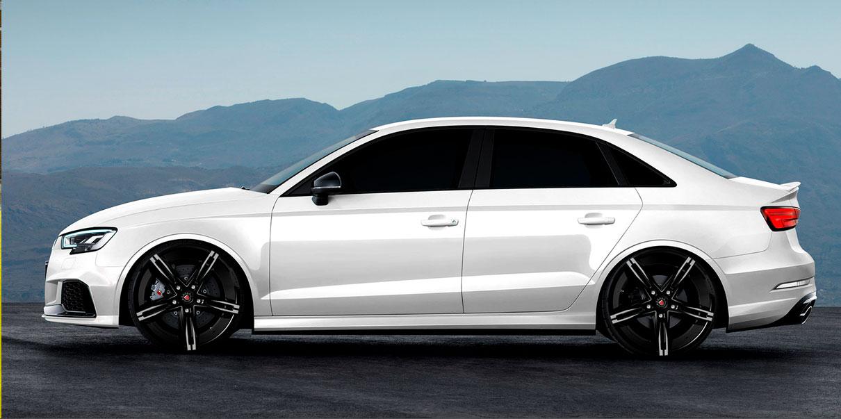 Audi S3 with MS-003 BG Morder Wheels