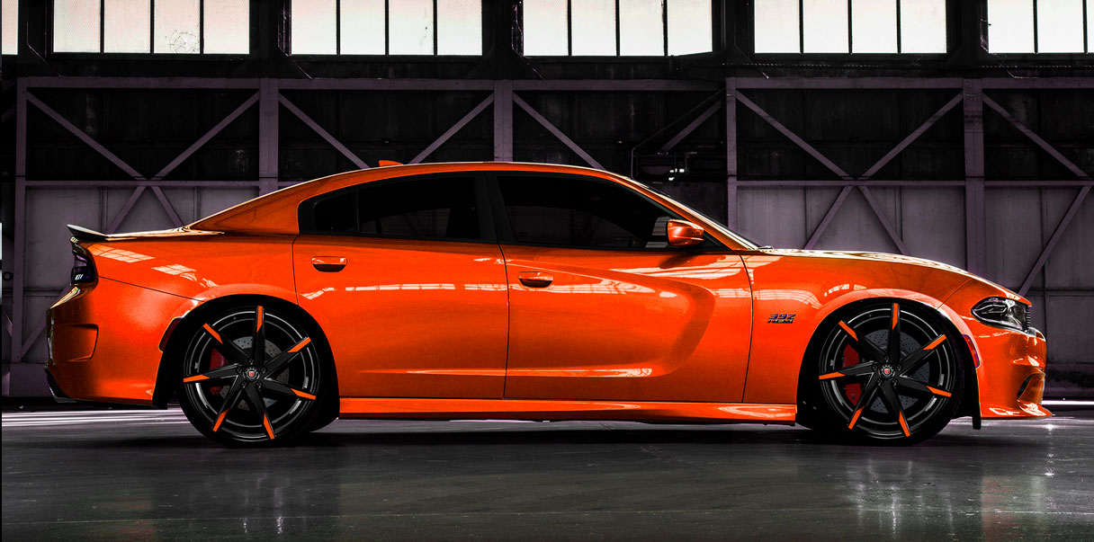 Dodge Charger with MS-007 Custom Morder Wheels