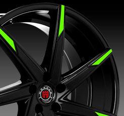 Green Tip Wheel