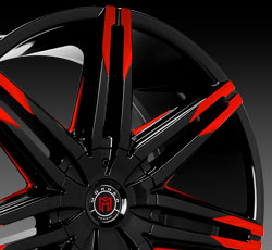 Wheel with Red Tips
