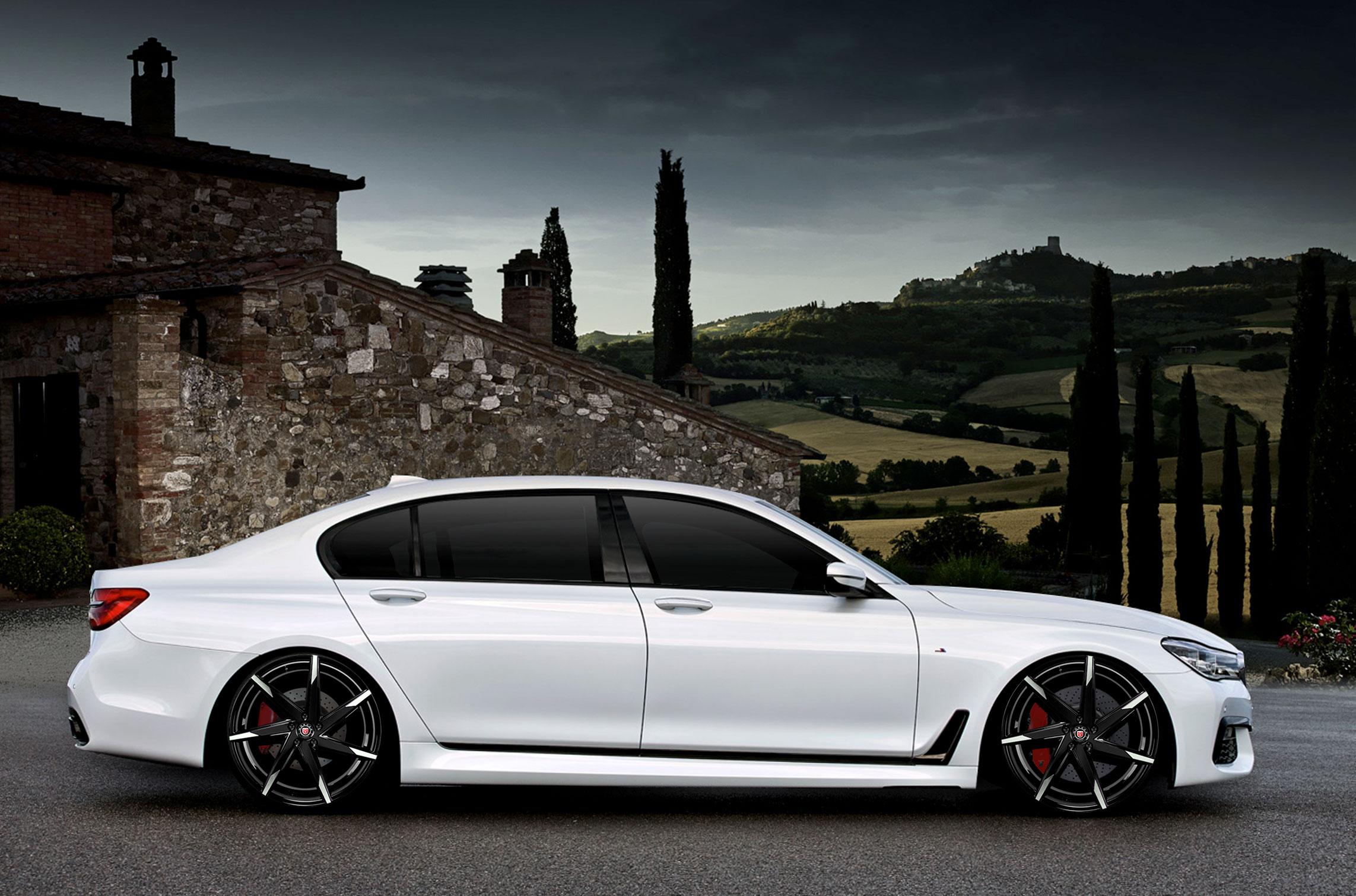 BMW 7 Series With MS 007 Custom Wheels