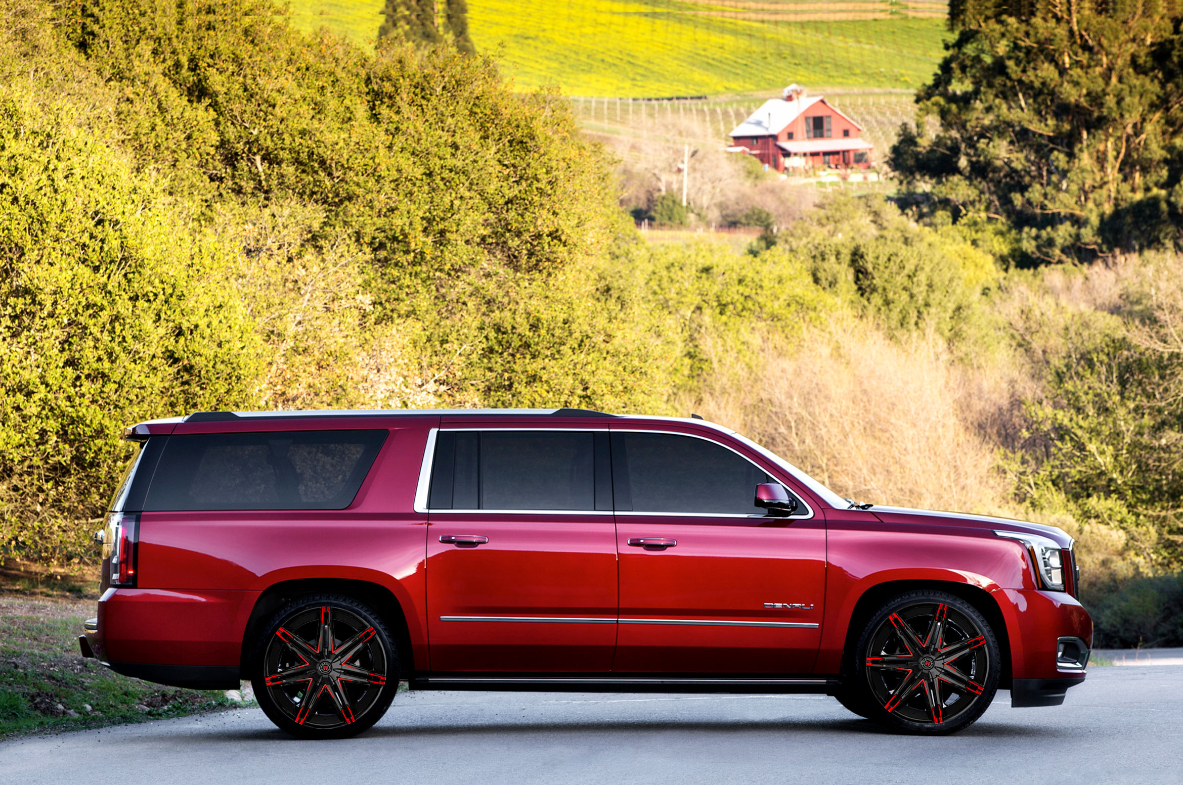 Yukon Denali With Ms 648 Custom Wheels